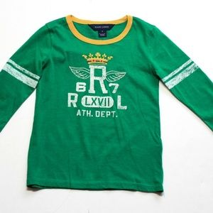 Girls Ralph Lauren Graphic Tee Shirt Top Size 5
